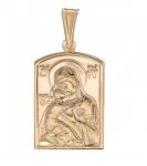 Подвеска иконка Божья Матерь Владимирская из золота 01П010877
