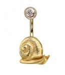 Пирсинг Альдзена из золота ВИНОГРАДНАЯ УЛИТКА Пр-24036