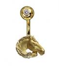 Пирсинг Альдзена из золота СТЕПНАЯ СИМФОНИЯ Пр-24035
