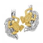Серьги из золота ЛЯГУШКА С - 24052