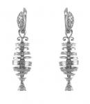 Серебряные серьги Узор Утум CH247