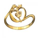Золотое кольцо с бриллиантами РАЙСКИЕ ЯБЛОЧКИ К-11013