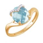 Кольцо с топазом из золота 01К3110853-6