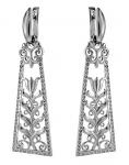 Серебряные серьги Узор Утум CH225