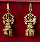 Золотые якутские серьги Узор Утум CH151G