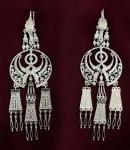Серебряные якутские серьги Узор Утум CH240
