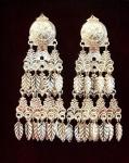 Серебряные якутские серьги Узор Утум CH018