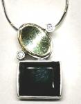 Колье из серебра Deno с ониксом MVN1356GON