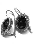 Серебряные серьги Deno с ониксом MVE1536ON