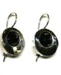 Серебряные серьги Deno с ониксом MVE916ON