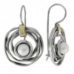 Серьги из серебра с жемчугом Deno MVE1450GPL