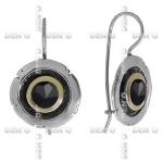 Серьги из серебра с ониксом и золотом MVE1187GON