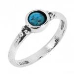 Кольцо из серебра Deno с бирюзой 01R2128TQ/4