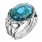 Кольцо из серебра Deno с бирюзой 01R907TQ