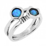Кольцо из серебра Deno с опалом 01R855OP