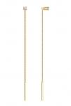 Серьги-протяжки из золота с фианитами 020611