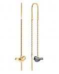 Серьги протяжки из золота с бриллиантами 1021697