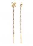 Серьги протяжки из золота с бриллиантами 1021702