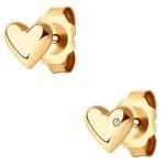 Серьги пуссеты из золота с бриллиантами 1021723