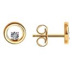 Серьги пуссеты из золота с бриллиантами 1021694