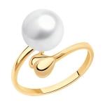 Кольцо из золота с жемчугом 791204