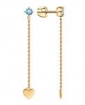 Золотые серьги с топазами 727759