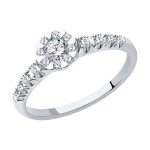 Кольцо из белого золота с бриллиантами 1012199-3