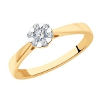 Кольцо из золота с бриллиантами 1012153