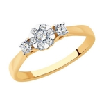 Кольцо из золота с бриллиантами 1012198