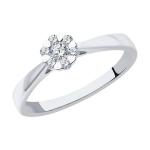 Кольцо из белого золота с бриллиантами 1012196-3
