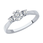 Кольцо из белого золота с бриллиантами 1012198-3