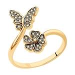 Кольцо из золота с бриллиантами 1012212