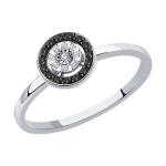 Кольцо из белого золота с бриллиант 7010090-3ами