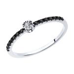 Кольцо из белого золота с бриллиантом 7010094-3