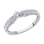 Кольцо из белого золота с бриллиантами 1012203-3