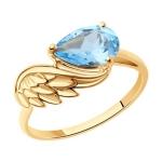 Кольцо из золота с топазом 716248