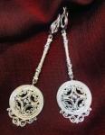Серебряные якутские серьги Узор Утум CH238