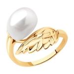 Кольцо из золота с жемчугом 791207