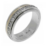 Серебряное кольцо Deno с фианитами и золотом SNR4167GCZ