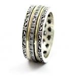 Серебряное кольцо Deno с фианитами и золотом SNR4798GCZ
