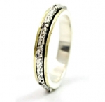 Серебряное кольцо Deno с фианитами и золотом SNR4709GCZ