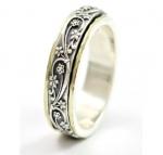 Серебряное кольцо Deno с золотом SNR4706G