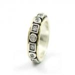 Серебряное кольцо Deno с золотом SNR4697GCZ