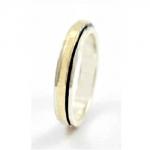 Серебряное кольцо Deno с золотом SNR4695G