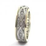 Серебряное кольцо Deno с золотом SNR4458GCZ
