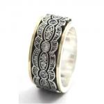 Серебряное кольцо Deno с золотом SNR4568GCZ