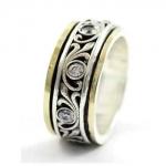 Серебряное кольцо Deno с золотом SNR4581GCZ