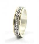 Серебряное кольцо Deno с золотом SNR4787GCZ