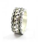 Серебряное кольцо Deno с золотом SNR4803G