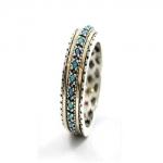 Серебряное кольцо Deno с золотом SNR4810GOP